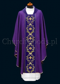 Purple contemporary chasuble 1115