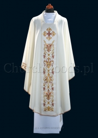 White contemporary chasuble 1101