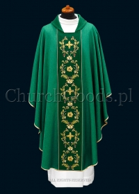 Green contemporary chasuble 1115
