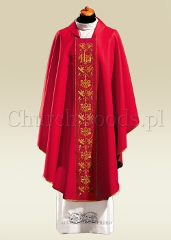 Red contemporary chasuble 1047
