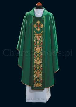 Green contemporary chasuble 1101