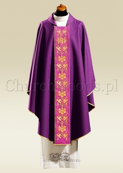 Purple contemporary chasuble 1047