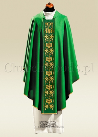 Green contemporary chasuble 1047
