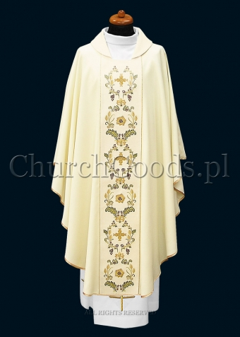 White contemporary chasuble 1115